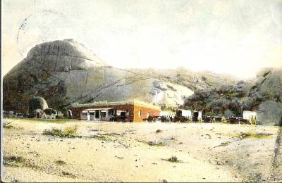 military base at the Spitzkoppe 1906 - source H. Gantze